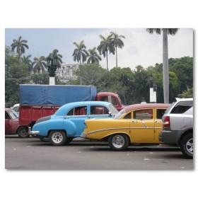Αφίσα (αυτοκίνητα, δέντρο, δρόμοι, Κούβα, δρόμος)